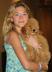 Anastasia with Kents Hill Puppy